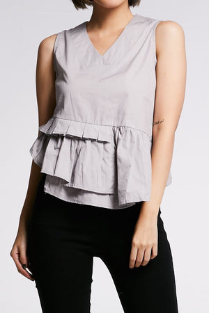 Layered Sleeveless Blouse 0648 - Ample Couture