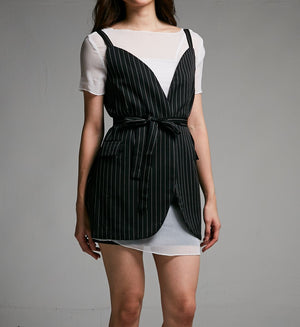 Stripe Print Dress 0493 - ample-couture