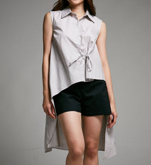 Back Long Top 0430 Grey / S Tops