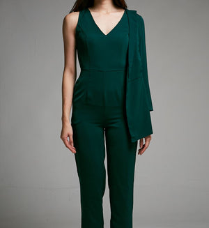 SIDE LONG SLEEVE JUMPSUIT - 0453 - Ample Couture