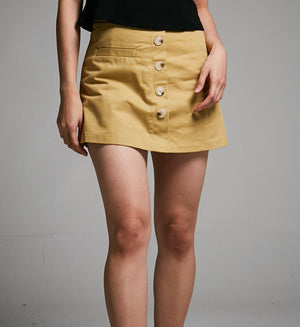 Button Skirt Pant 0497 - ample-couture