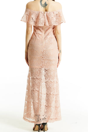 Lace Maxi Dress 0792 - ample-couture