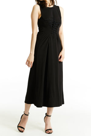 Plain Long Dress 0784 - ample-couture