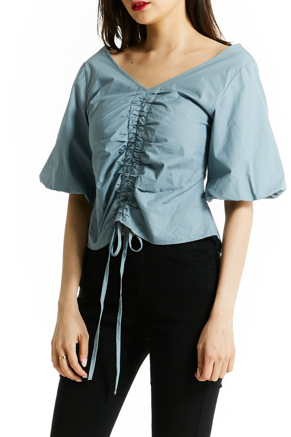 V-Neck Blouse 0762 - ample-couture