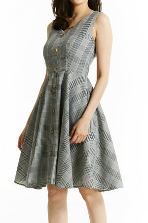 Plaid Dress 0790 - Ample Couture