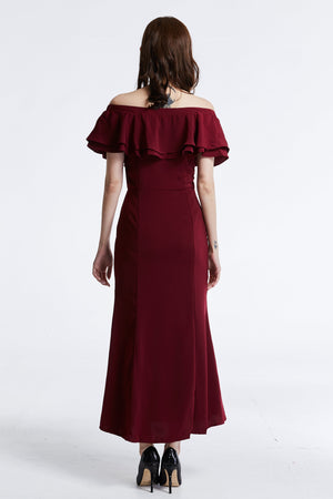 Off Shoulder Long Dress 0848 - Ample Couture