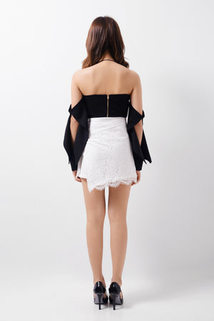 Mini Skirt Wrapped With Lace