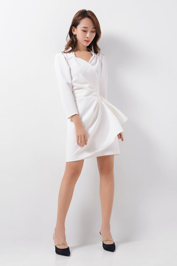 Long Sleeves Draping Dress  (Premium Quality Ready Stock)