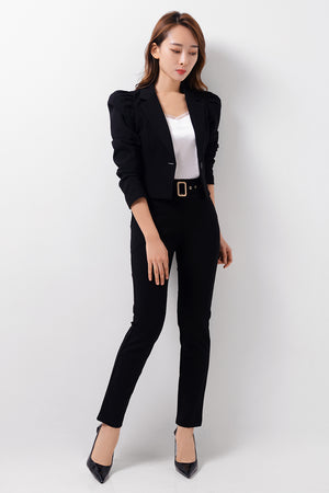 Structured Sleeves Blazer
