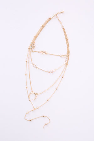 4 Layer Moon Necklace N6106