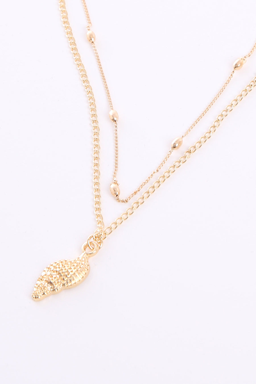Shell Gold Necklace N6886 - ample-couture