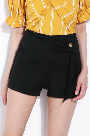 Side Belt Short Pants 5757