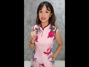 Flower Cheongsam Playsuit 11408