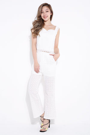 Strap Top With Crochet Pant 7015 Sets