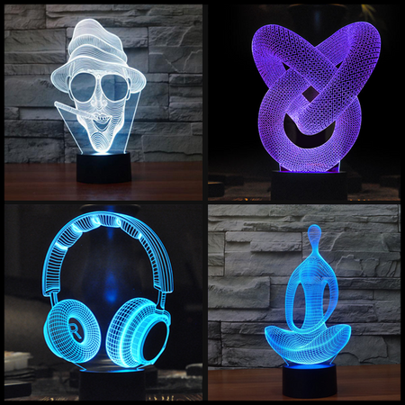 Optical Illusion Hologram USB Lamp