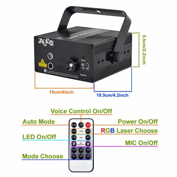 All Connected - Smart Sound Active Laser Show Projector