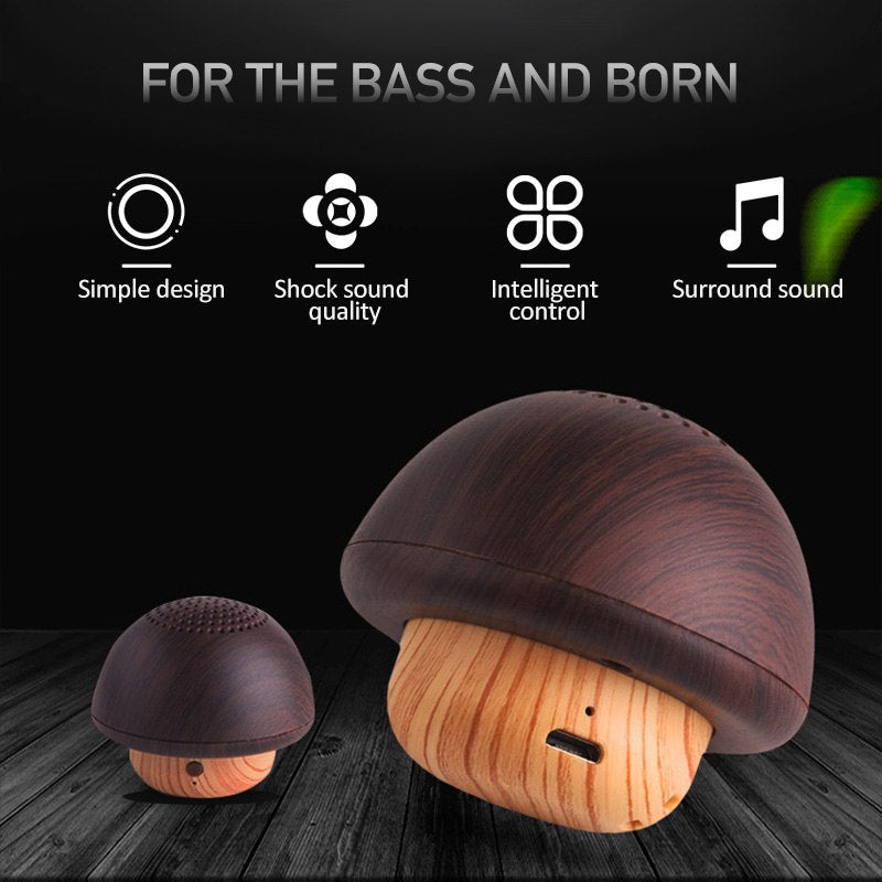 Mushroom Music - Mini Portable Bluetooth Sound Speaker