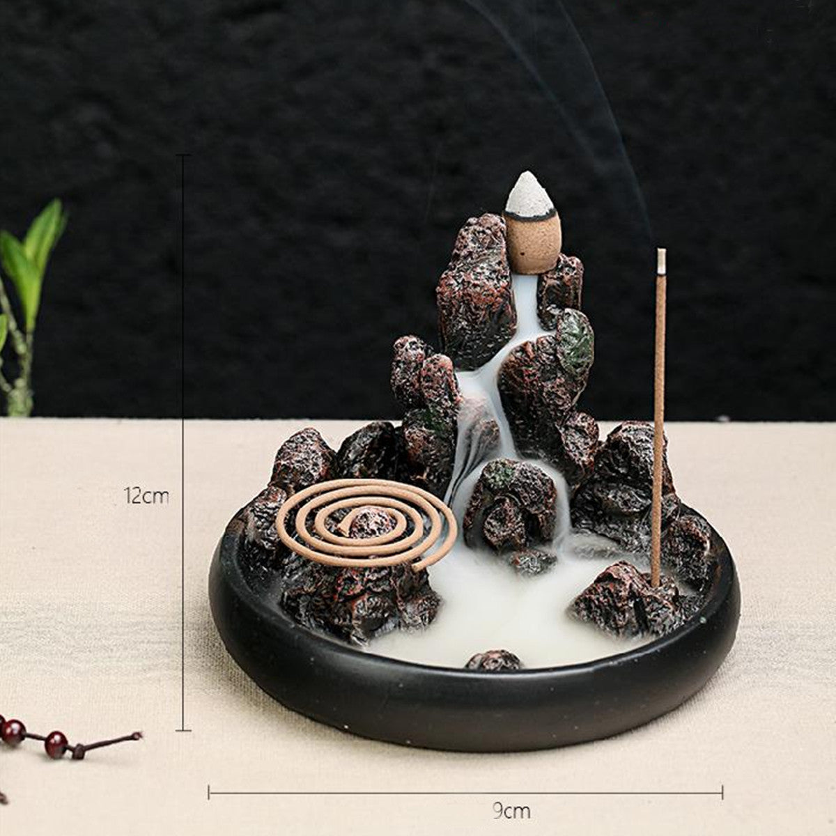 Mossy Rocks - Handcrafted Backflow Incense Burner
