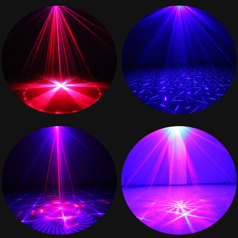Fourth Dimension - Sound Active Blue/Red Laser Projector