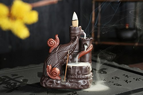 Handcrafted Zen Snail Garden Unique Incense Burner