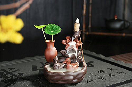 Handcrafted Peaceful Scene Unique Incense Burner