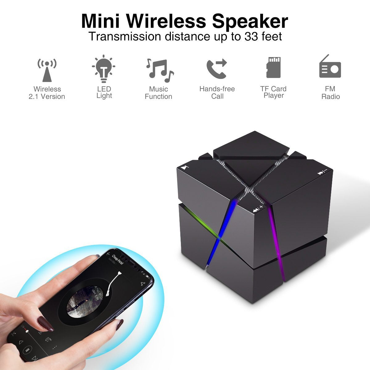 Creative Block - Bluetooth Portable Speaker Light Show