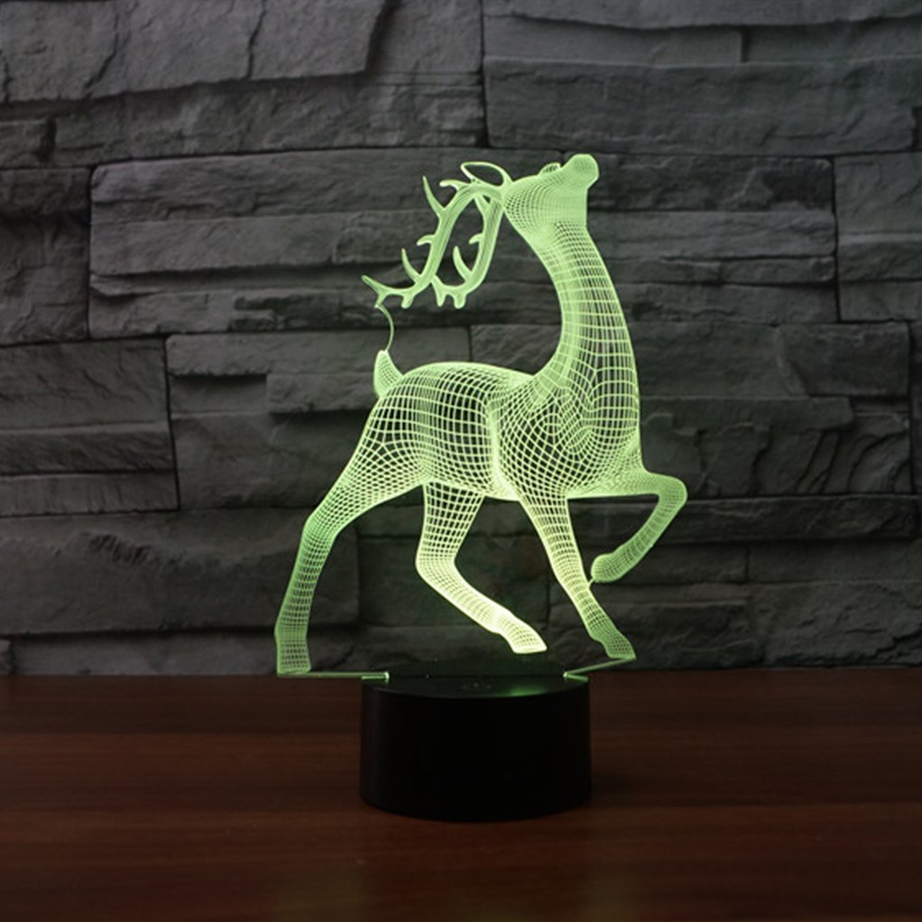Majestic Deer 3D Optical Illusion Hologram USB Lamp