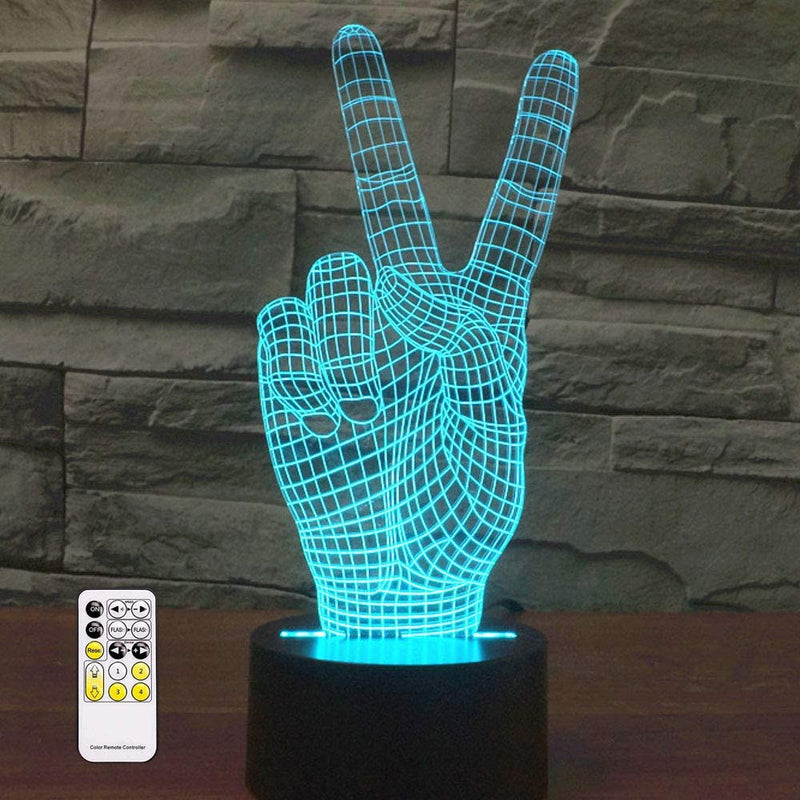 Peace 3D Optical Illusion Hologram USB Lamp
