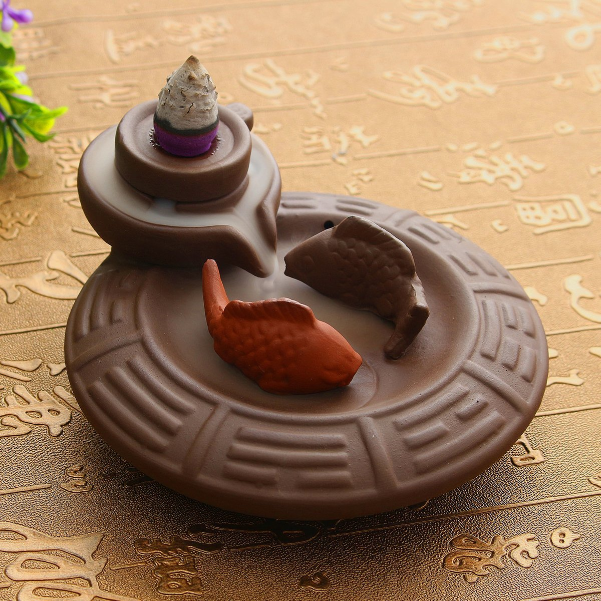 Handmade Yin and Yang Backflow Incense Burner