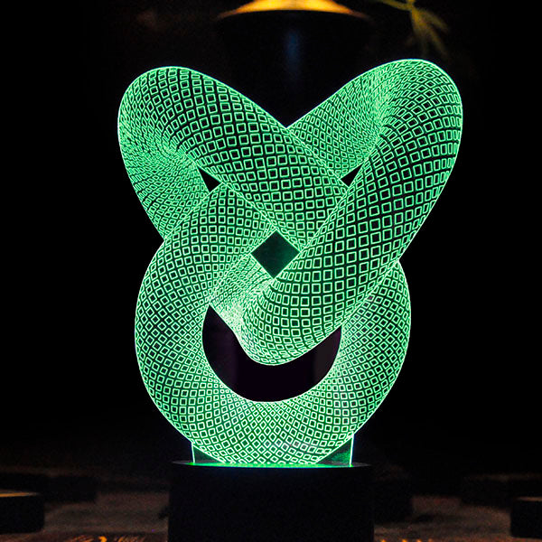 Infinite Abstract 3D Optical Illusion Hologram USB Lamp