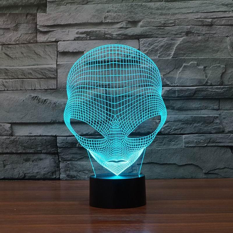 Extraterrestrial 3D Optical Illusion Hologram USB Lamp