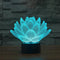 Blooming Lotus 3D Optical Illusion Hologram USB Lamp