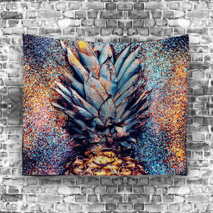 Pineapple Expression Psychedelic Bedroom Wall Tapestry