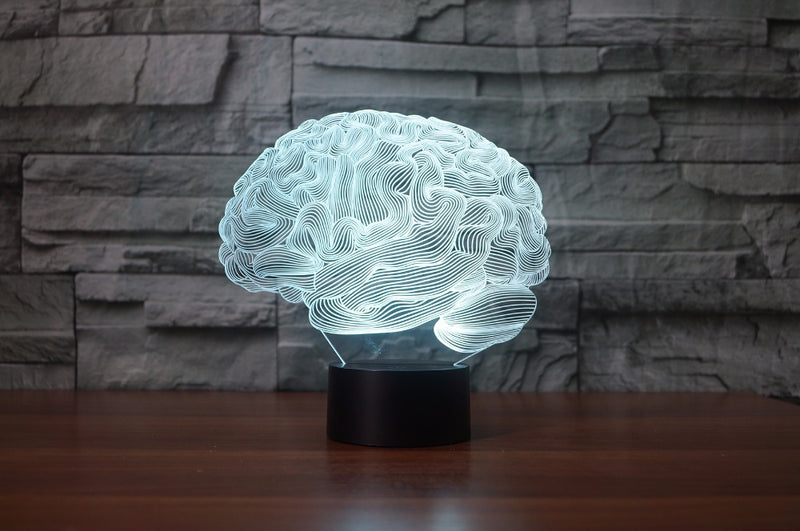 The Brain 3D Optical Illusion Hologram Engraved USB Lamp