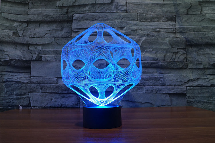 Psychedelic 3D Optical Illusion Hologram Engraved USB Lamp