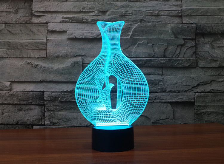 Peaceful Bird 3D Optical Illusion Hologram USB Lamp
