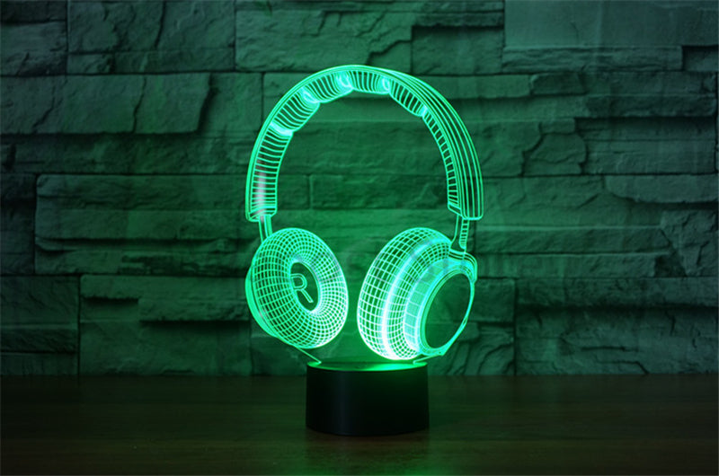 Rhythms by Royce Headphones 3D Illusion Hologram USB Lamp