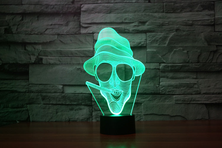 Fear of Loathing 3D Optical Illusion Hologram USB Lamp