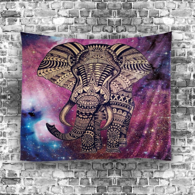 Space Elephant Unique Hanging Wall Tapestry