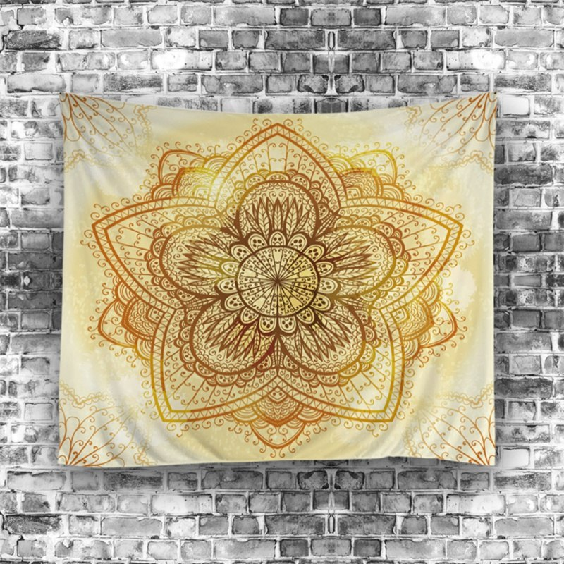 Golden Star Mandala Psychedelic Wall Tapestry