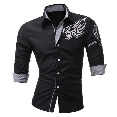 Camisa Social Masculina Dragons Slim - Florida Outlet