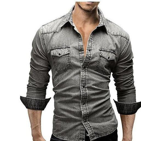 Camisa Social Masculina Jeans Casual 2017 - Florida Outlet
