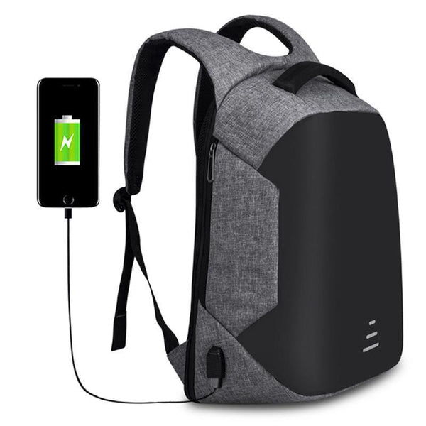 Mochila Anti Furto Impermeável com porta USB - 2018-Florida Outlet