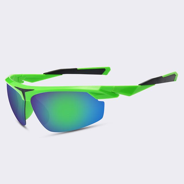 Óculos Escuros Semi-Rimless Polarizado UV400 Green-Óculos Escuros-Florida Outlet