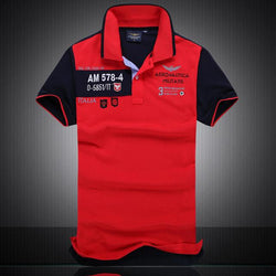 Polo Masculina Aeronautica Top 2017 AM Red-Polos-Florida Outlet