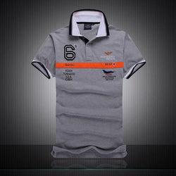 Polo Masculina Aeronautica Top 2017 Gray Tornado-Polos-Florida Outlet