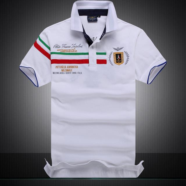 Polo Masculina Aeronautica Top 2017 White Italia-Polos-Florida Outlet