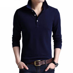 Polo Masculina Manga Longa Top Slim Fit-Polos-Florida Outlet