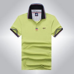 Polo Masculina Tace & Shark Classic Green-Polos-Florida Outlet