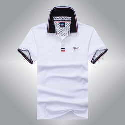 Polo Masculina Tace & Shark Classic White-Polos-Florida Outlet